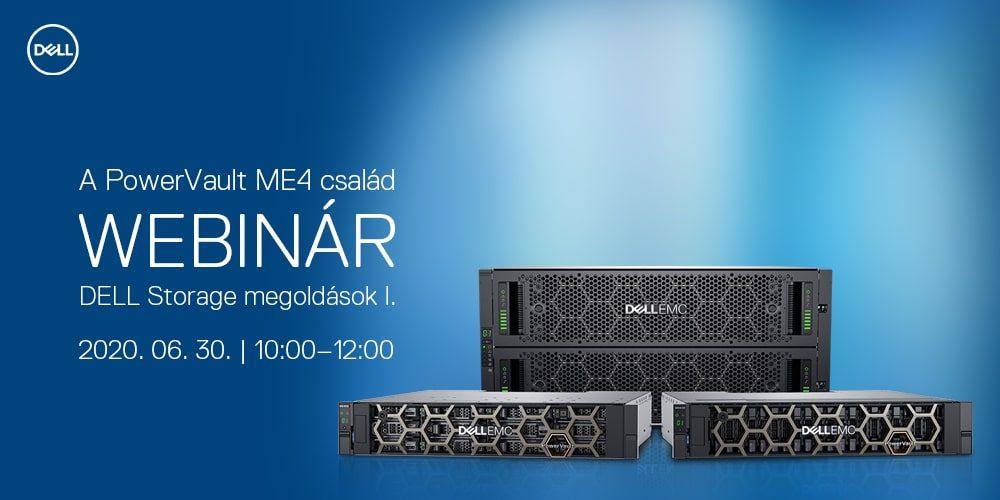 Dell Storage Webinár I. - A PowerVault ME4 család